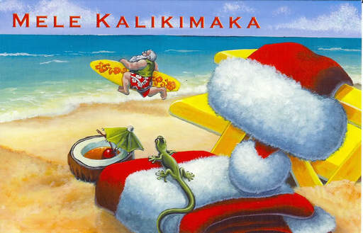 I'm going to so surprise you with one of my favourite Christmas songs. It's only the Hawaiian Christmas song 'Mele Kalikimaka'. I love this song, ...